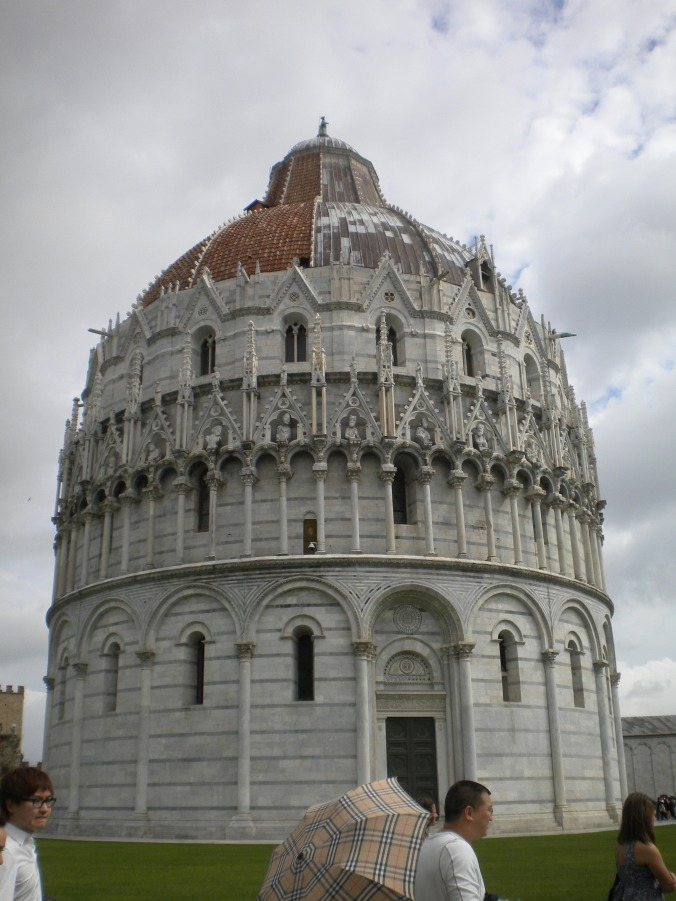 Cathedral next to Tower of Pisa